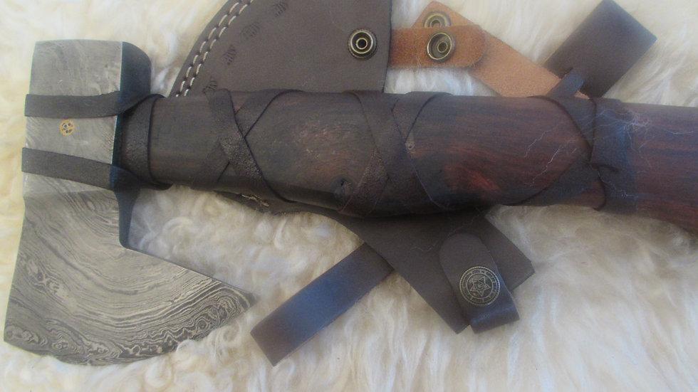 Bearded Axe, heavy Damascus steel (ND24)