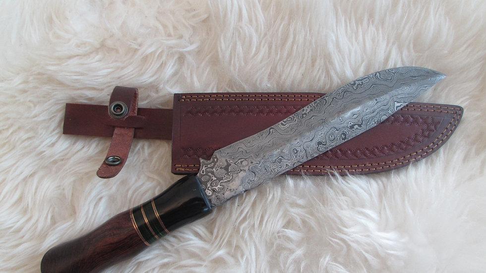 Damascus steel large knife (B17)