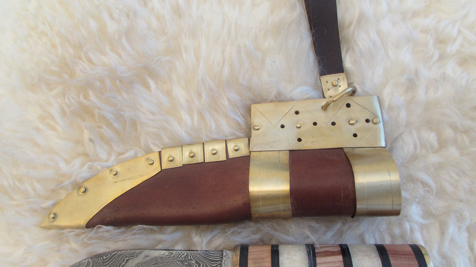 Viking hand forged seax/knife