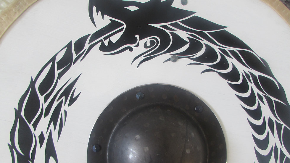 Jormungandr white and black shield