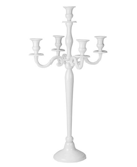 white candelabra for hire