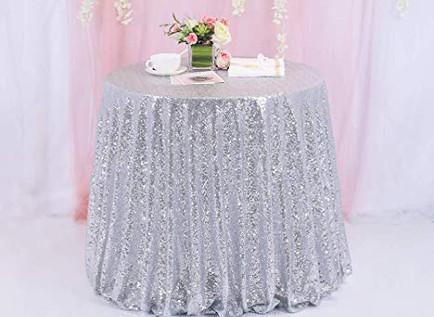 Silver Table Cloth