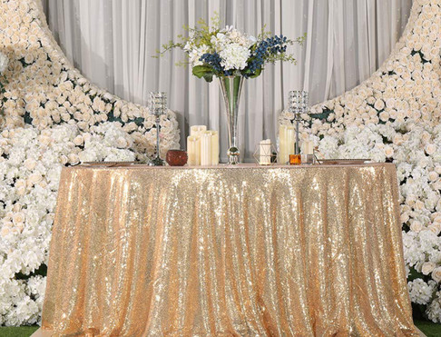 Champagne Sequin Table Cloth