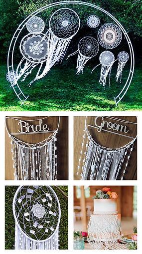 boho style wedding decorations hire