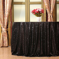 Pink Sequin Table Cloth