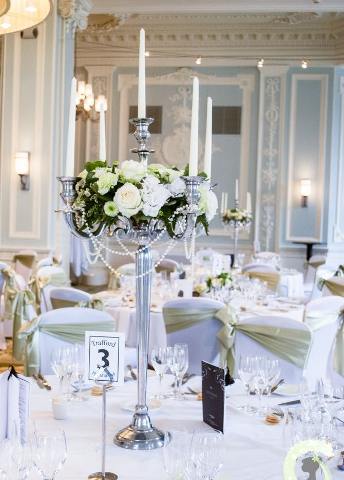 silver candelabra hire london