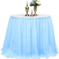 Blue Table Skirt