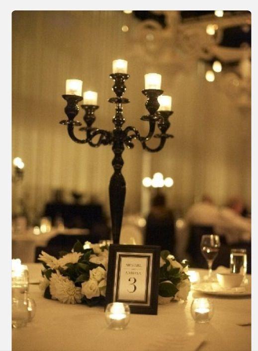 black candelabra for hire