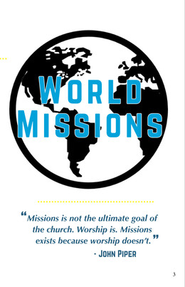 Missions Prayer Booklet