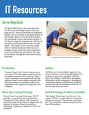 News Letter created for the Georgia College IT Department