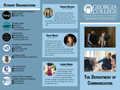 Brochure created for the Department of Communication