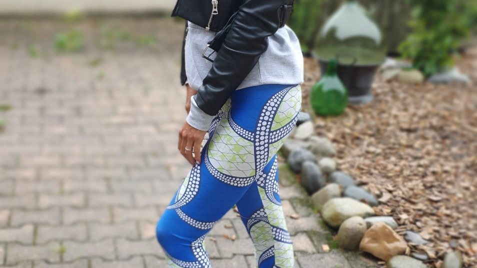 "Leggings wax ""Blue diamond"""