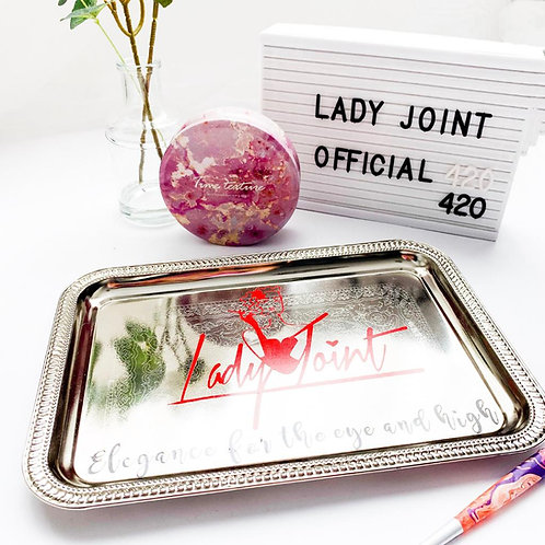 Lady Joint Rolling Tray - Silver Plated