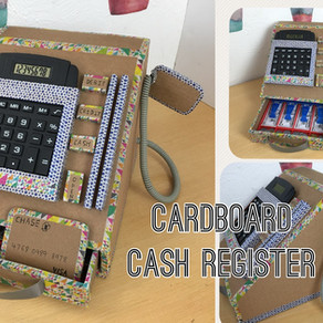 DIY cardboard cash register with calculater​ ​(2)