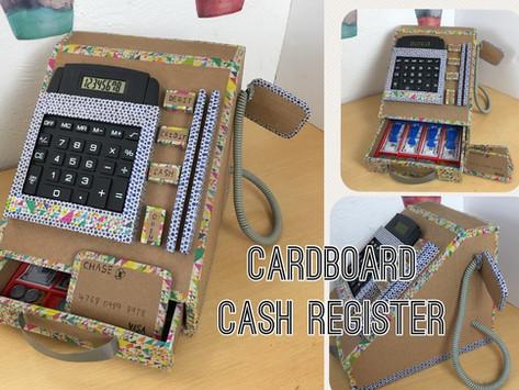 DIY cardboard cash register with calculater (2)