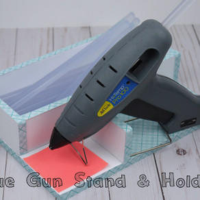 DIY Hot Glue Gun Stand & Holder