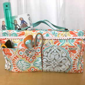 How I made Craft Bag, DIY Craft Caddy tutorials