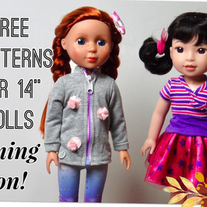 "New Offering! Free pattern for 14"" dolls"