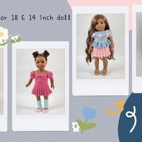 Crochet Simple Skirt for 18 & 14 Inch Doll