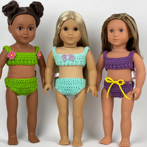 Crochet Bikini For 18 inch Doll