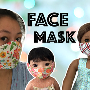 Face Mask Sewing Tutorial Plus Mask for 14 and 18-inch doll