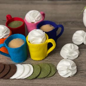 Felt Coffee Mug With Changeable Drink