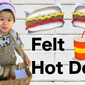 Felt Play Hot Dog
