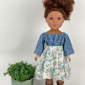 """How to Sew Gathered Skirt For 18"""" and 14"""" Dolls"""