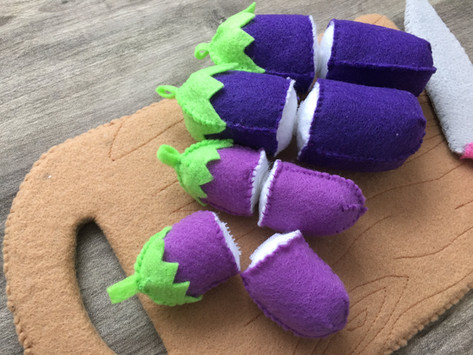 Felt food series 3#Eggplant tutorials
