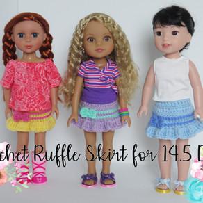 Crochet Ruffle Skirt For 14.5-inch Dolls