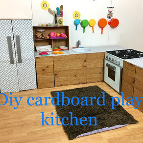 Diy cardboard kids play kitchen tutorials