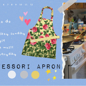 Kids Montessori Apron with free printable pattern