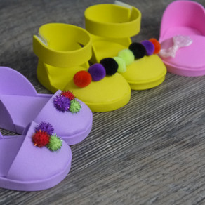 "How To Make American Girl Doll Shoes / Sandals for 18"" dolls"