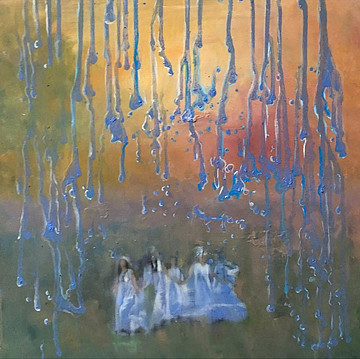 'Sanziene', (2019), oil on canvas, 50cm x 50cm