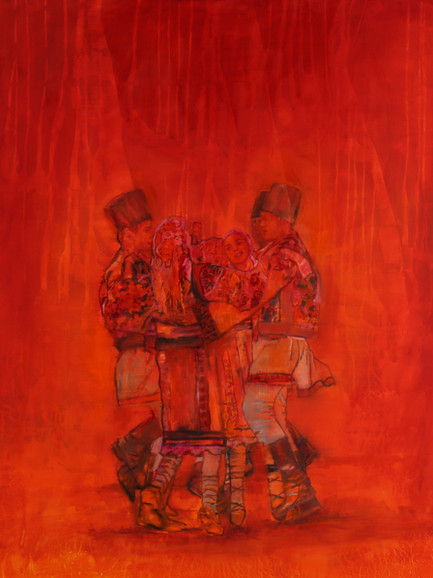 Hora,  (2019), Oil on Canvas, 140 cm x 120 cm