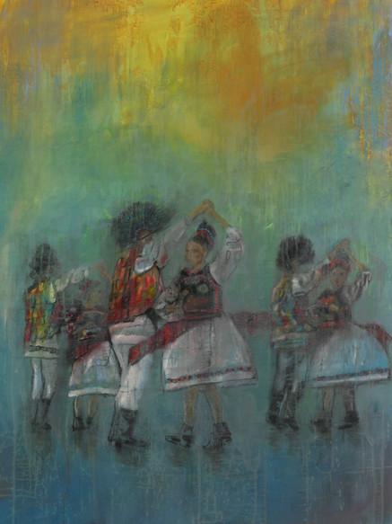 Festival, (2019), Oil on Canvas, 140 cm x 120 cm