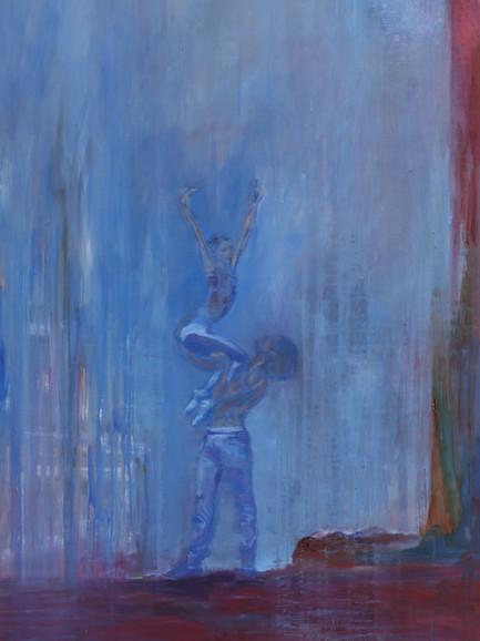 Ballet Perch, (2019), Oil on Canvas, 140 cm x 120 cm