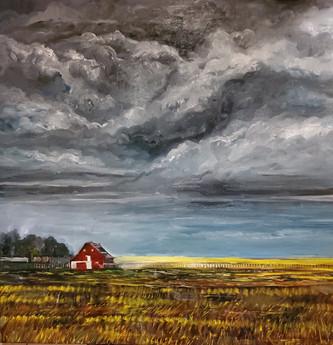 Storm (2021) Oil on Canvas 100cmx100cm