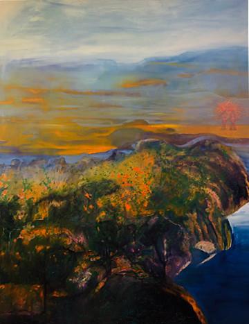 'Amazon Dancers', (2019), oil on canvas, 160cm x 120cm