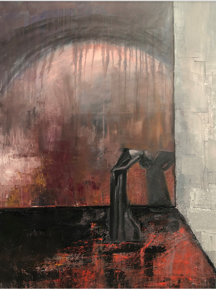 'Swoon', (2018), oil on canvas, 80cm x 100cm