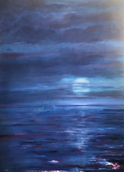 'Moonlight Dance', (2019), oil on canvas, 170cm x 110cm