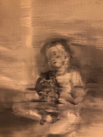 Sophie and Xeo, (2019), Oil on Canvas, 25 cm x 30 cm