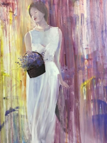 The Maiden, Oil on Canvas, 120 cm x 100 cm
