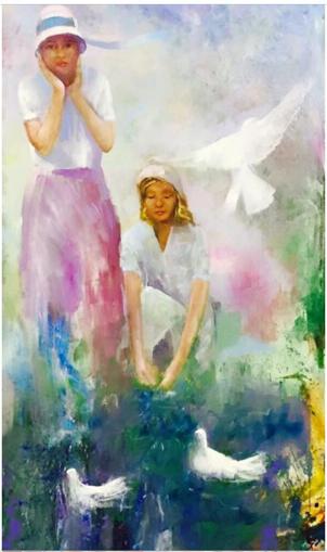 Peace, Oil on Canvas, 160 cm x 100 cm