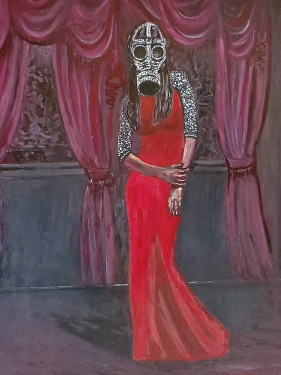 Elegant Solitude (2020) Oil on Canvas 100 cm x 100 cm