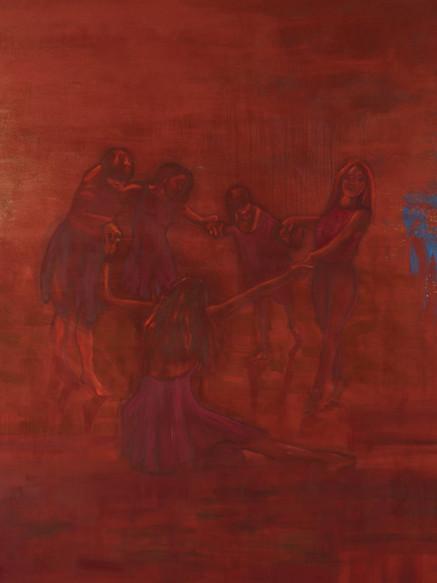 Dance Studio, (2019), Pigment and Oil on Canvas, 190 cm X 160 cm