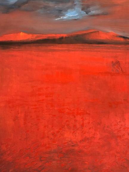 'Hot', (2019), oil on canvas, 160cm x 120cm