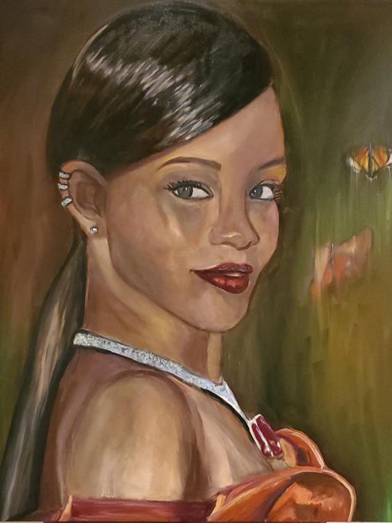 Rihanna (2020) Oil on Canvas 100 cm X 100 cm