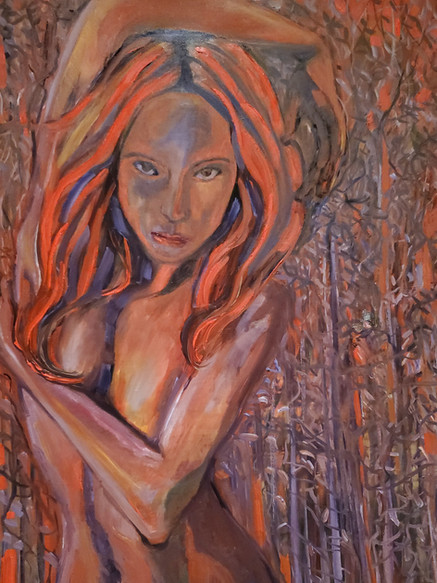 Ruby Red (2020) Oil on Canvas 80 cm x 60 cm