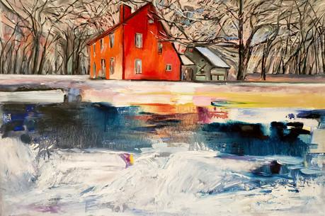 Thinning Ice (2021) Oil on Canvas 120 cm x 80 cm